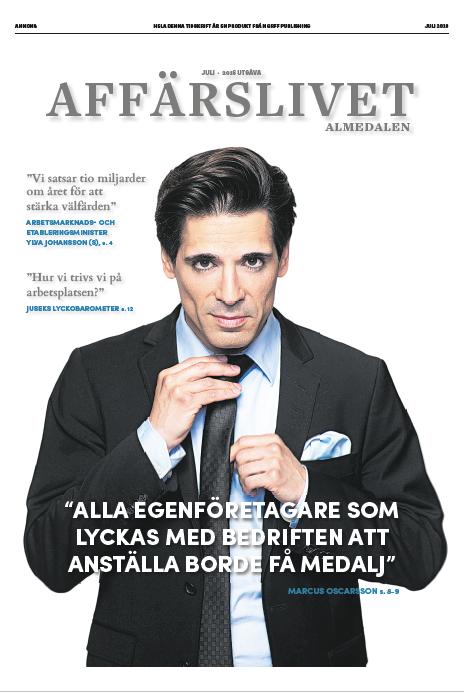 Affärslivet Almedalen, i Svenska Dagbladet